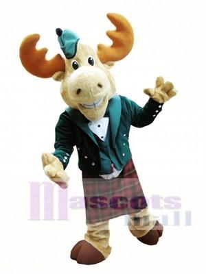 Bull Moose Mascot Costume Moose in Bellman Suit Mascot Costume