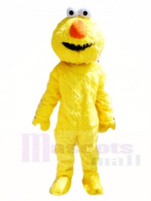 Sesame Street Yellow Boy Bert Mascot Costumes People