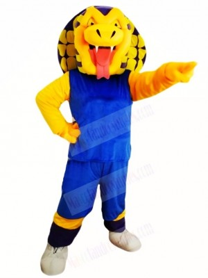 Blue Shirt Sports Snake Mascot Costumes Animal