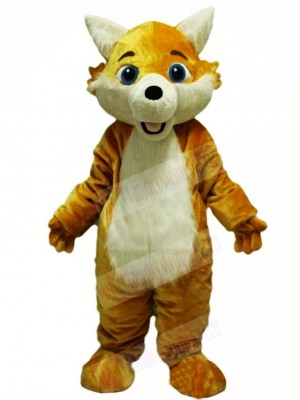 Yellow Fox Wolf Mascot Costumes Animal