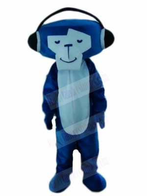 Blue DJ Monkey Mascot Costumes Animal