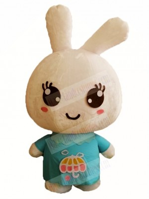 Blue Shirt Rabbit Easter Bunny Mascot Costumes Animal