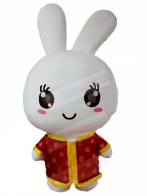 Red Shirt Rabbit Easter Bunny Mascot Costumes Animal