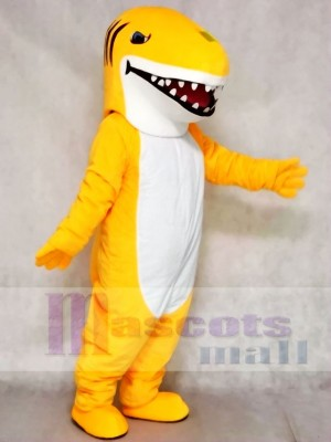 Custom Color Yellow Shark Mascot Costumes Animal Sea