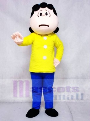Lucy van Pelt in Blue Pants from Snoopy Dog Mascot Costumes Cartoon