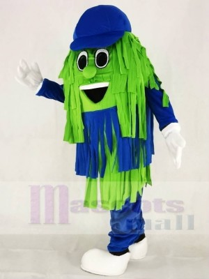 Blue & Green Car Wash Cleaning Brush Mascot Costumes