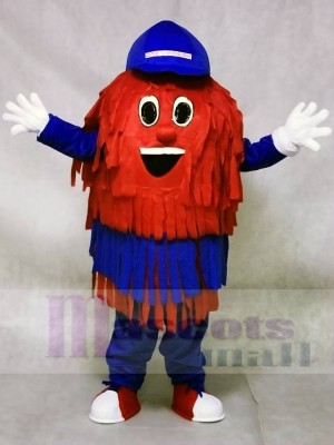 Blue & Red Car Wash Cleaning Brush Mascot Costumes
