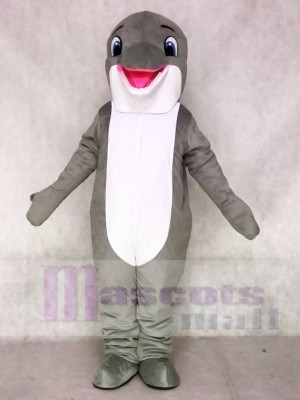 Lovely Grey Dolphin Mascot Costumes Sea Ocean