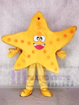 Yellow Starfish Mascot Costumes Sea Ocean