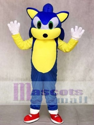 Green Eyes Blue Hedgehog Sonic Mascot Costume