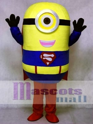 Despicable Me Minions Superman Mascot Costume Halloween Outfit