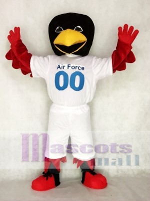Air Force Mascot Costume Red Bird Mascot