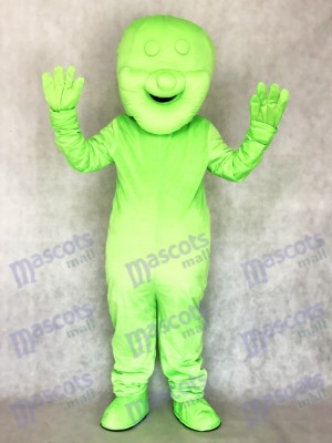 Green Jelly Baby Food Snack Mascot Costume