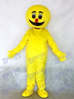 Yellow Boogie Man Party Mascot Costume