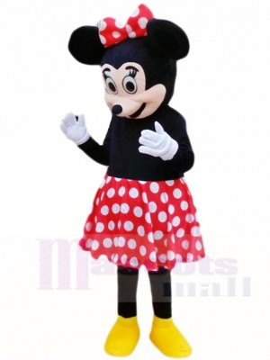 Minnie Mouse in Red Dots Skirt Mascot Costumes Cartoon
