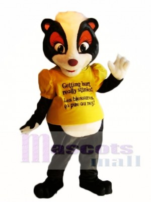 Yellow Shirt Stella the Safety Skunk Mascot Costumes Animal
