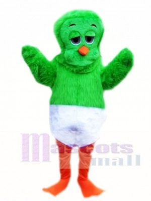 Green 80's Orville the Duck Mascot Costume Animal