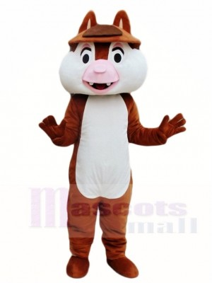 Two Teeth Squirrel Mascot Costumes Animal
