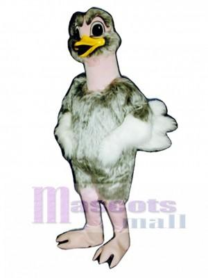 Cute Realistic Ostrich Mascot Costume