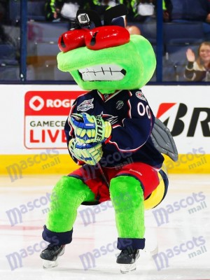 Stinger the Blue Jackets Columbus Blue Jackets Mascot Costume Insect