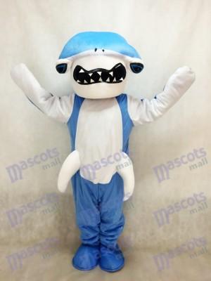 Blue Hammerhead Shark Mascot Costume