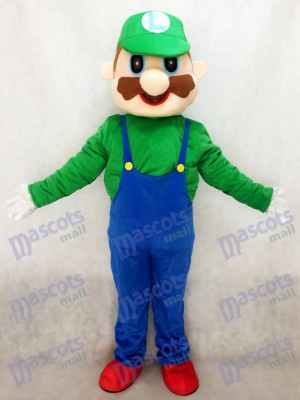 Green Super Mario Luigi Mascot Costume