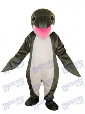 Grey Penguin Mascot Adult Costume