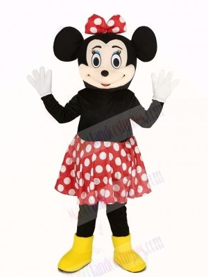 Minnie Mouse in Red Skirt Mascot Costume