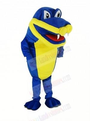 Royal Blue Crocodile Alligator Mascot Costume
