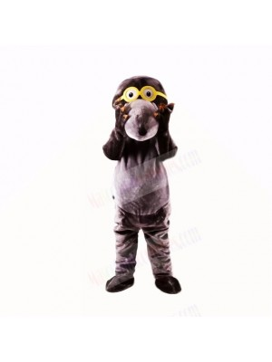 Gray Glasses Mole Mascot Costumes College