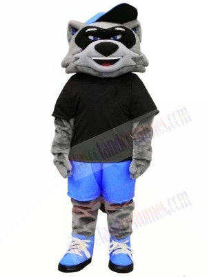 Cool Raccoon with Black T-shirt Mascot Costumes Animal