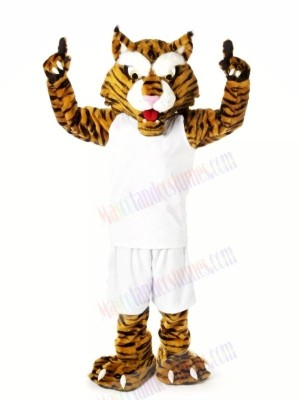 Strong Wildcats with White Suit Mascot Costumes