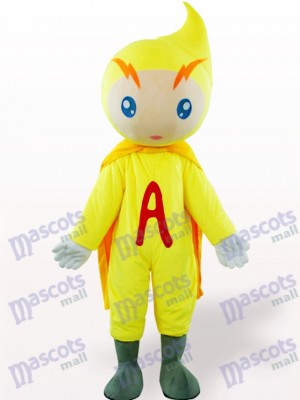 Yellow Volt-Ampere Cartoon Adult Mascot Costume