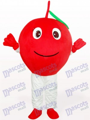 Red Apple With Single Leaf Fruit Adult Mascot Costume