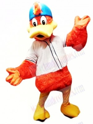 Orange Sport Duck Mascot Costume