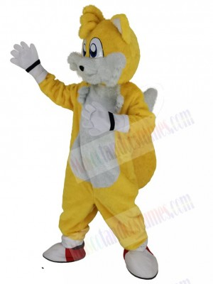 Miles Prower Tails Fox mascot costume