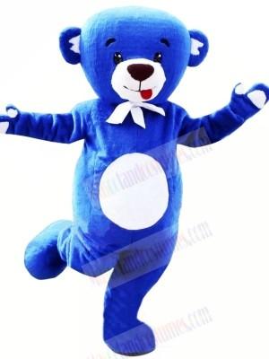 Happy Blue Bear Mascot Costumes Cartoon