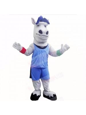 Sport Lightweight Horse with Blue Shirt Mascot Costumes School