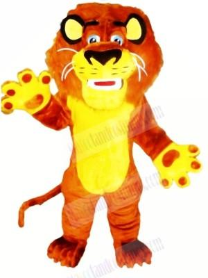 Sports Yellow Lion Mascot Costumes Cartoon