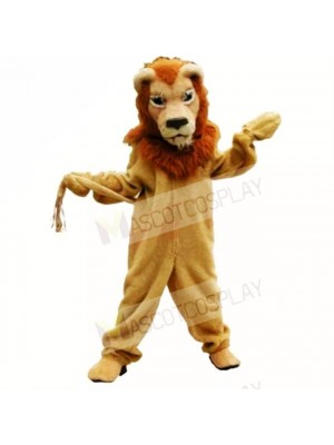 Brown Glorious Lion Mascot Costumes Adult