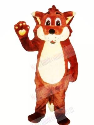 Happy Red Fox Mascot Costumes Cartoon