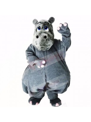 Grey Lightweight Hippo Mascot Costumes Cartoon