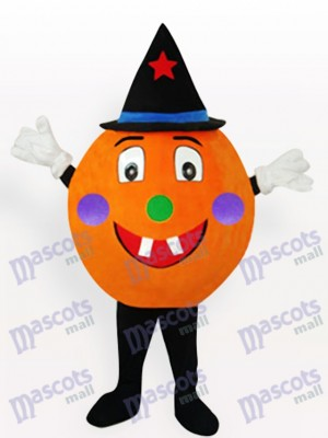Orange Pumpkin Anime Adult Mascot Costume