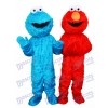 Sesame Street Blue Cookie Monster and Red Elmo Mascot Costume