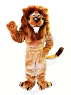 Brown Lion with White Beard Mascot Costumes