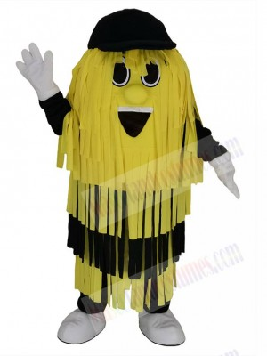 Yellow and Black Car Wash Cleaning Brush Mascot Costume