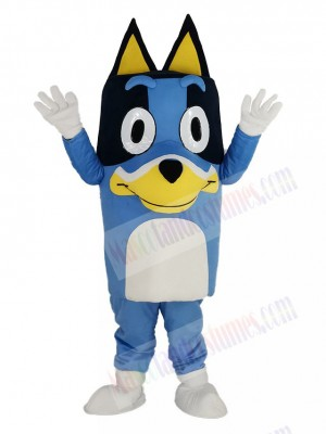Blue Dog with Long Ears Mascot Costume Animal