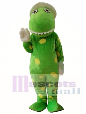 Green Wiggles Dorothy The Dinosaur Adult Mascot Costume