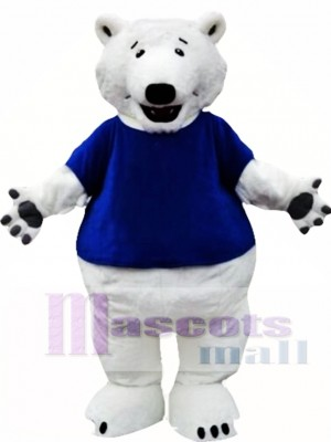 Polar Bear Mascot Costume with T-shirts