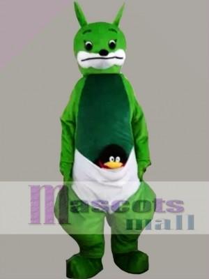 Green Kangaroo Mascot Costume
